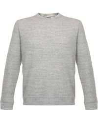 Naked & Famous - Naked And Famous Vintage Double Face Grey Sweatshirt 011496 - Lyst