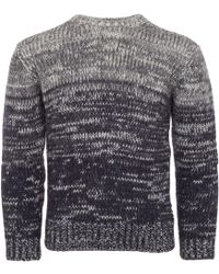 Armani Jeans - Blue Fantasia Mohair Knitted Jumper - Lyst