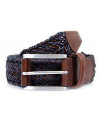 Andersons - Anderson's Braided Twine Deep Navy Brown Belt - Lyst
