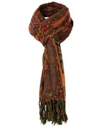 Our Legacy - Our Legacy Boiled Paisley Dark Red Scarf - Lyst