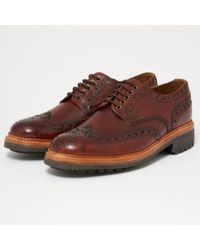 Grenson - Archie Brogue Shoes - Tan - Lyst