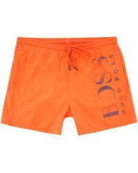 BOSS - Octopus Swim Shorts - Bright Orange - Lyst