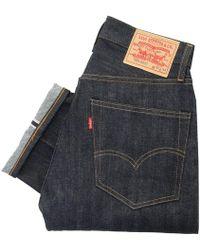 Levi's - Levi's Vintage 505 Pre- Shrunk Dark Wash Selvage Denim Jeans - Lyst