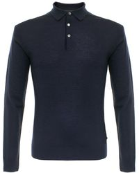 Matíníque - Klint Dark Navy Ls Polo Shirt - Lyst
