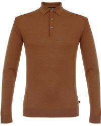 Matíníque - Klint Caramel Knit Polo Shirt - Lyst