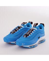 Lyst - Nike Air Max 97 Premium Blue Hero  White  Black in Blue for Men c6e8c8807