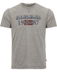 Napapijri - Grey Solin Short Sleeve - Lyst