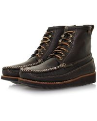 G.H. Bass & Co. - Ranger Moc Ii Dark Brown Boot Ba13451044 - Lyst