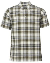 Norse Projects - Dried Olive Theo Textured Check Short Sleeve Shirt - Lyst