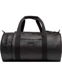 Fred Perry Authentic - Black Saffiano Barrel Bag - Lyst