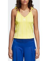 adidas Originals - Yellow Fashion League Tank Top - Lyst