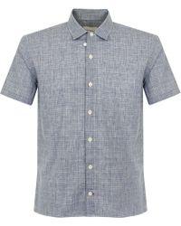 Oliver Spencer - Hawaiian Navy Shirt - Lyst