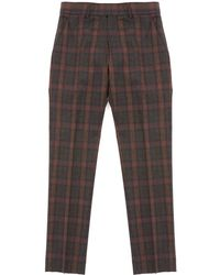 Gibson London - Tartan Check Trousers - Sage - Lyst