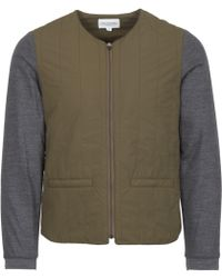 Still By Hand - Olive Crew Neck Blouson Jacket - Lyst