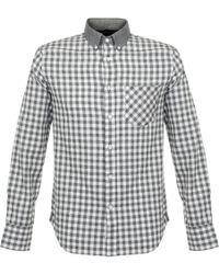 Rag & Bone - Yokohama Check Ls Grey Shirt M266a14sd - Lyst