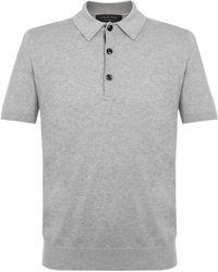 Rag & Bone - Mason Grey Polo Shirt - Lyst