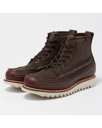 G.H.BASS - Dark Brown And Textile Quail Razor Hi Boot - Lyst