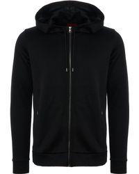 HUGO - Debasti Hooded Sweatshirt - Black - Lyst