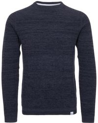 Norse Projects - Navy Lauge Cotton Fine Waffle Crewneck Jumper - Lyst