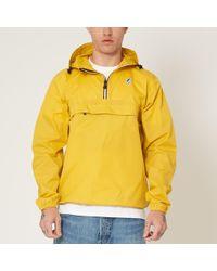 K-Way - K-way Le Vrai 3.0 Leon Pullover Waterproof Jacket In Yellow - Lyst
