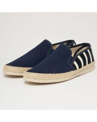 Armor Lux | Striped Canvas Espadrilles - Navy & Natural | Lyst