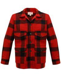 Filson - Red & Black Plaid Mackinaw Cruiser Jacket - Lyst