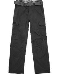 Schott Nyc - Cargo Us 70 Cargo Trousers - Lyst