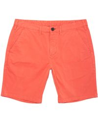 PS by Paul Smith - Coral Stretch Pima-cotton Shorts - Lyst