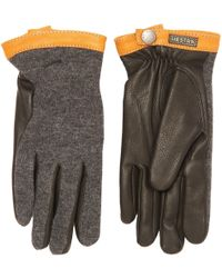 Hestra - Charcoal Deerskin Wool Tricot Gloves - Lyst