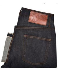 Naked & Famous - Naked And Famous Easy Guy Dark Wash Selvedge Denim Jeans - Lyst
