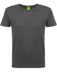 BOSS Green - C-canistro Medium Grey T-shirt - Lyst