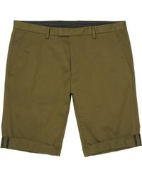 HUGO - Dark Green Glen Shorts - Lyst