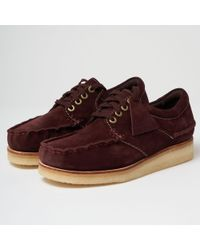 Clarks - Wallace Shoes - Burgundy - Lyst