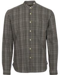 Oliver Spencer - Murray Green Grandad Shirt - Lyst
