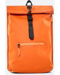 Rains Rolltop Rucksack - Orange