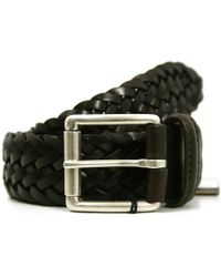 Andersons - Andersons Braided Brown Leather Belt A1097 Af2984 Pl178 - Lyst