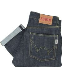 Edwin   Nashville Red Listed Selvage Denim - Unwashed   Lyst
