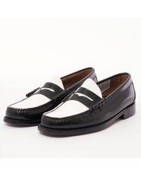 G.H.BASS - Larson Moc Penny Loafer - Black & White - Lyst
