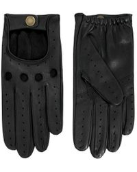 Dents - Black Leather Driving Gloves - Lyst