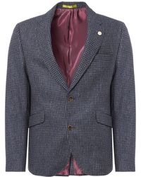Gibson London - Blue Muted Check Jacket - Lyst