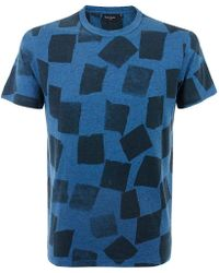 PS by Paul Smith - Paul Smith Squares Blue Mix T-shirt Jmfj- - Lyst
