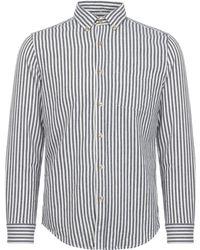Portuguese Flannel - Blue Barraca Striped Shirt - Lyst