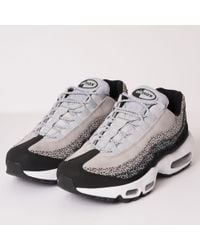 new product 4d3b3 931d6 Nike - Air Max 95 Prm - Black, Wolf Grey   White - Lyst
