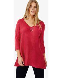 Studio 8 - Sizes 12-26 Pink Lily Knit Jumper - Lyst