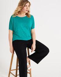 Studio 8 - Sizes 16 -26 Black Alina Linen Wide Leg Trousers - Lyst
