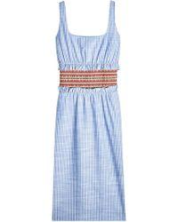 Stella Jean - Striped Cotton Dress - Lyst
