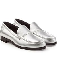Pierre Hardy - Metallic Leather Loafers - Lyst