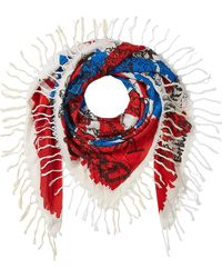 Burberry - Doodle Print Silk-cotton Scarf - Lyst