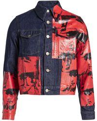 CALVIN KLEIN 205W39NYC - X Andy Warhol Denim Jacket - Lyst