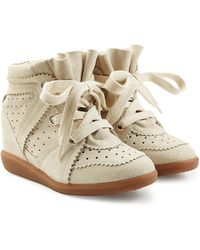 Isabel Marant - Bobby Suede Wedge Sneakers - Lyst
